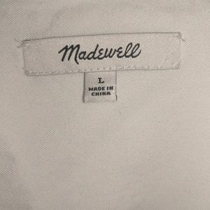 Madewell Tops - Madewell central shirt white size Large